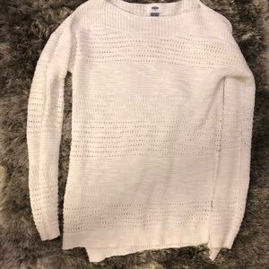 NWOT. White knit sweater.